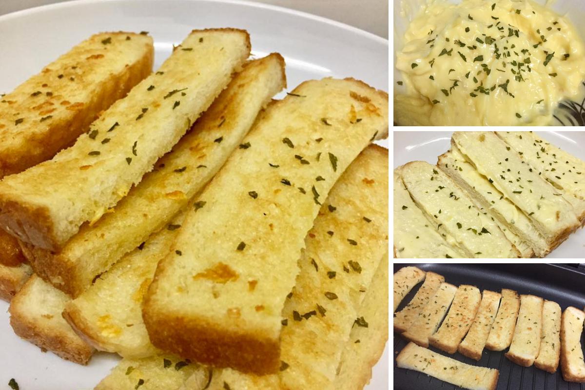Cara Buat Garlic Bread Homemade Sedap