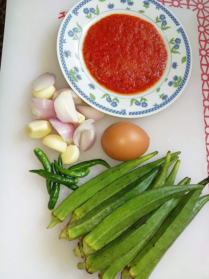 sambal telur bendi resepi mudah senang cukup makan  nasi panas Resepi Nasi Goreng Sotong Kering Enak dan Mudah