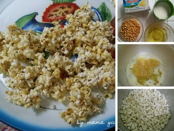 langkah mudah buat popcorn karamel  guna periuk biasa rangup rangup manis sedap Resepi Nasi Jagung Enak dan Mudah