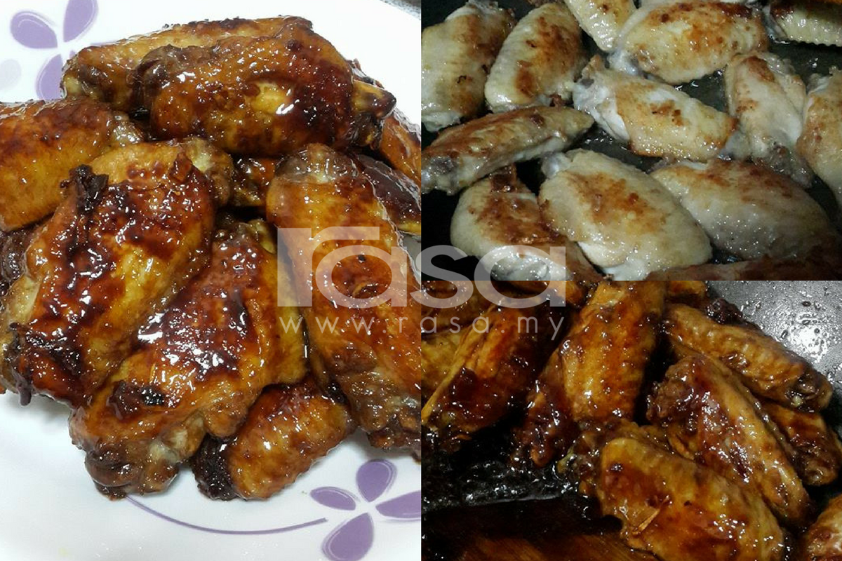 Kepak Ayam Bakar Madu Dalam Kuali Cantik Berkilat Rasa