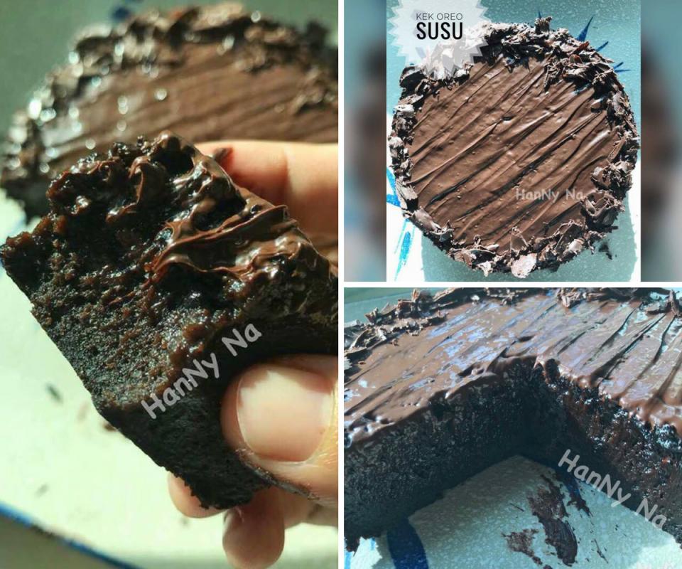 Terasa Nak Makan Kek Coklat Cubalah Kek Oreo Susu Ni Guna