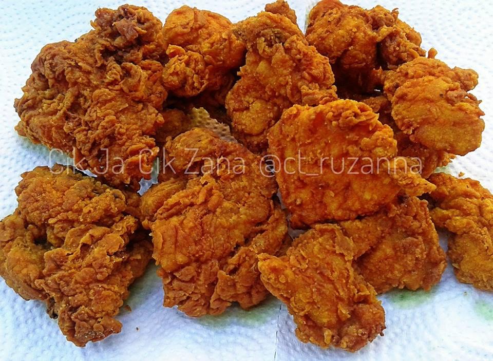Cara Cara Buat Ayam Goreng Rangup Resipi Ibunda Hanya Guna
