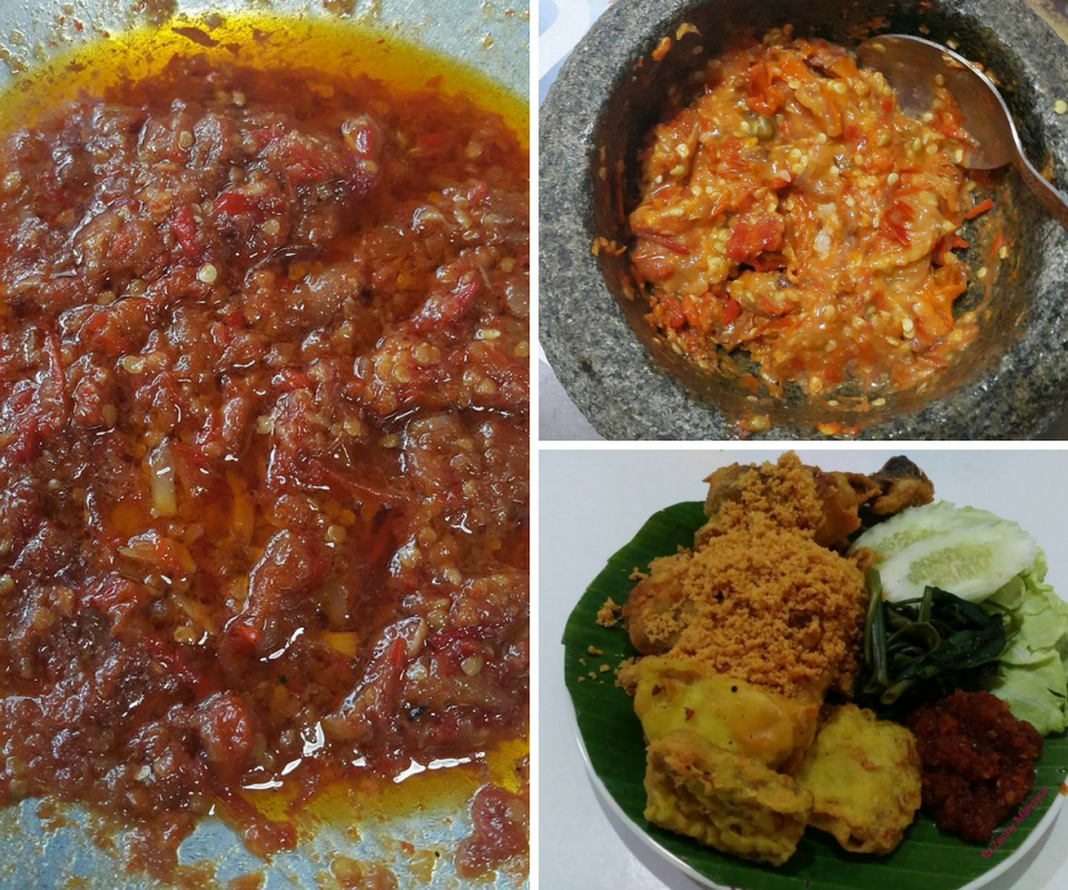 Resipi Nasi Ayam Penyet Bersama Sambal Pedas Kebabom Memang