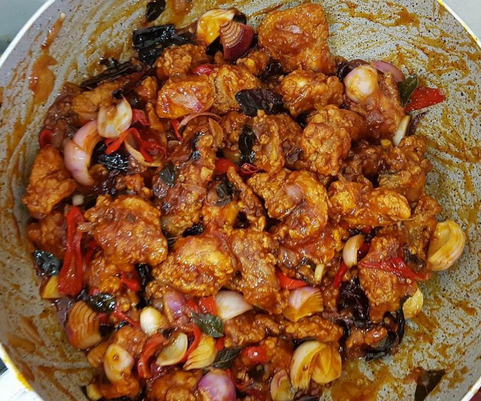 Resepi Ayam Masak Cili Kering Stail Cina Muslim Sedap Rasa