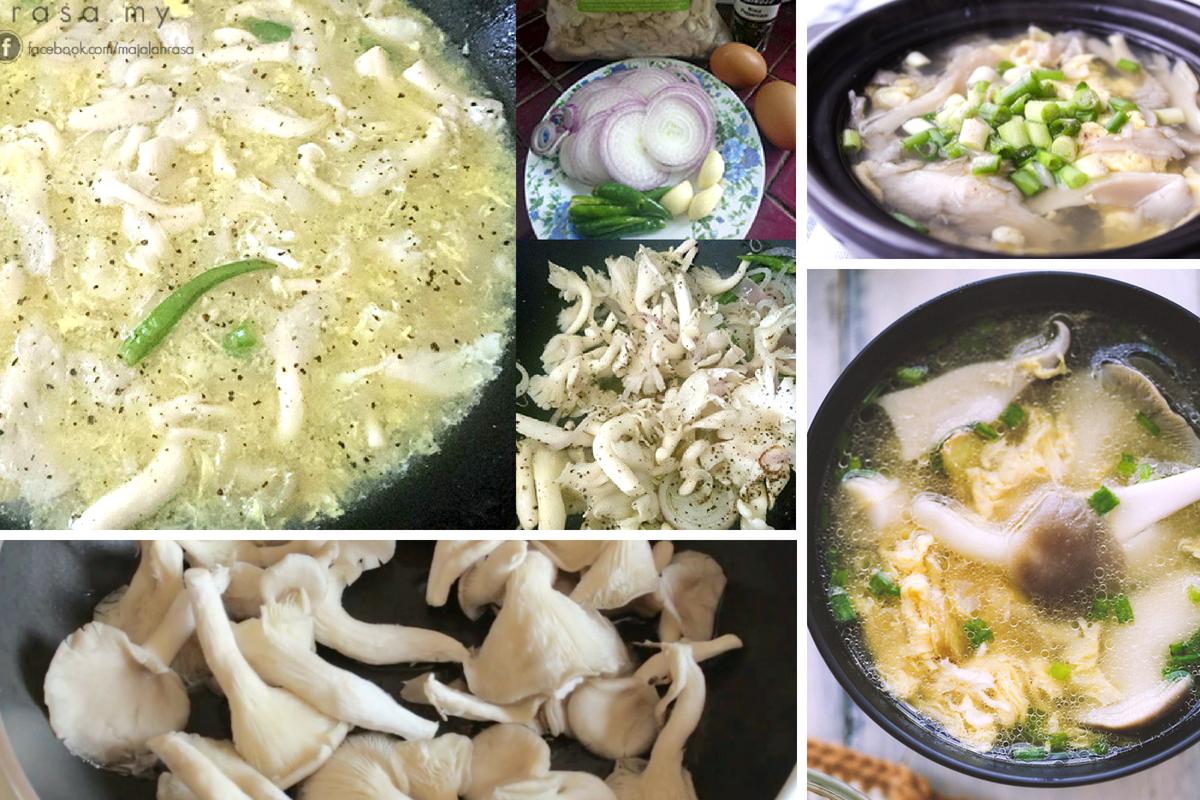 cendawan tiram mudah dimasak  menyihatkan rasa Resepi Kuih Tiram Rangup dan Sedap Enak dan Mudah