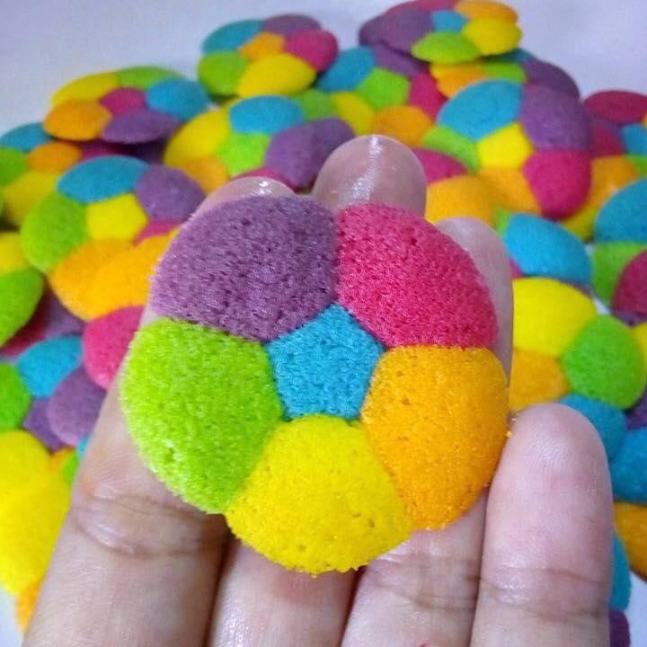 Viral Cantik Macam Bunga Biskut Rainbow Paling Laku Keras