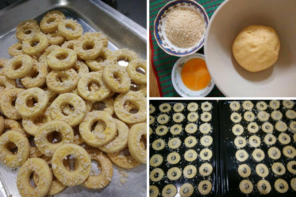 resipi biskut telur rebus  mudah guna  bahan je rasa Resepi Biskut Raya Cincin Enak dan Mudah