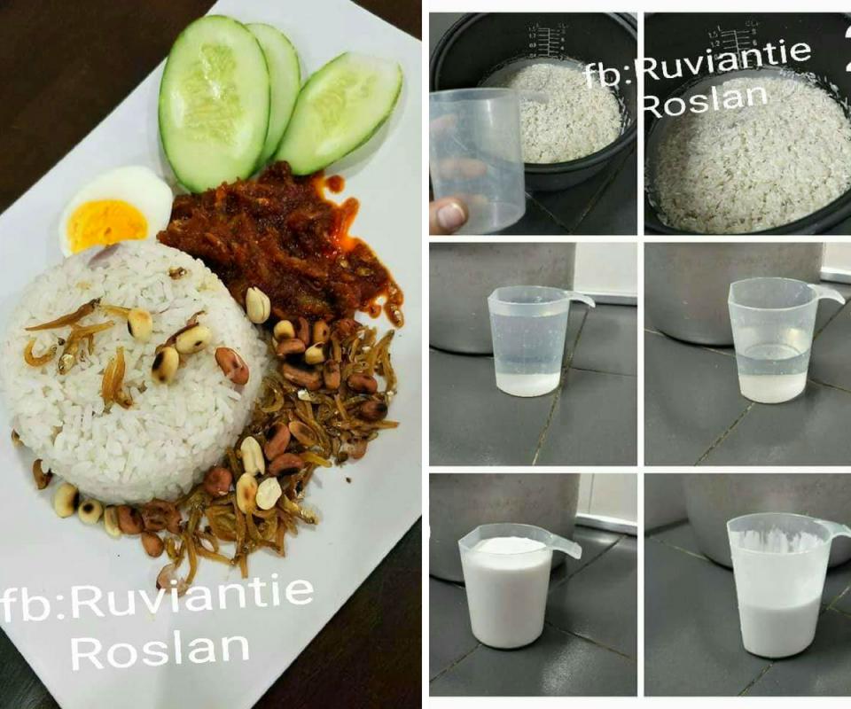 Panduan Sukatan Santan Air Untuk Masak Nasi Lemak Yang Sedap Dan Lembut