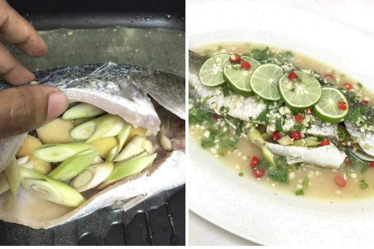 Resepi Ikan Siakap Stim Yang Mudah Dan Sedap