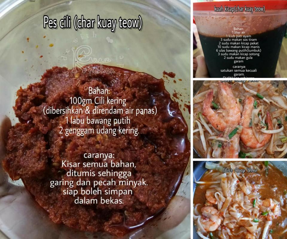 Cara Cara Buat Kuah Kicap Pes Cili Untuk Masak Char Kuay Teow Mudah Jimat Sedap