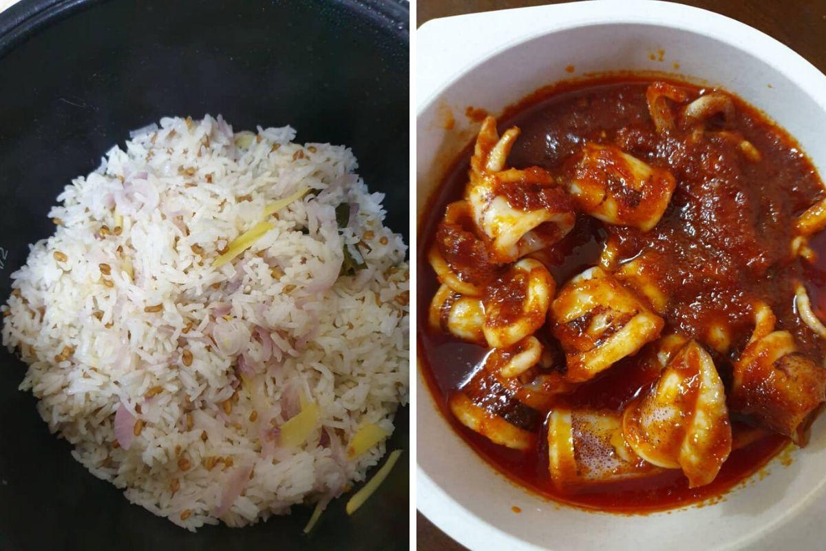 Nasi Lemak Sempoi Dengan Sambal Sotong