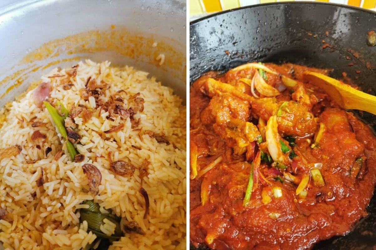 Nasi Tomato Dan Ayam Masak Merah Menu Kombo Hari Raya