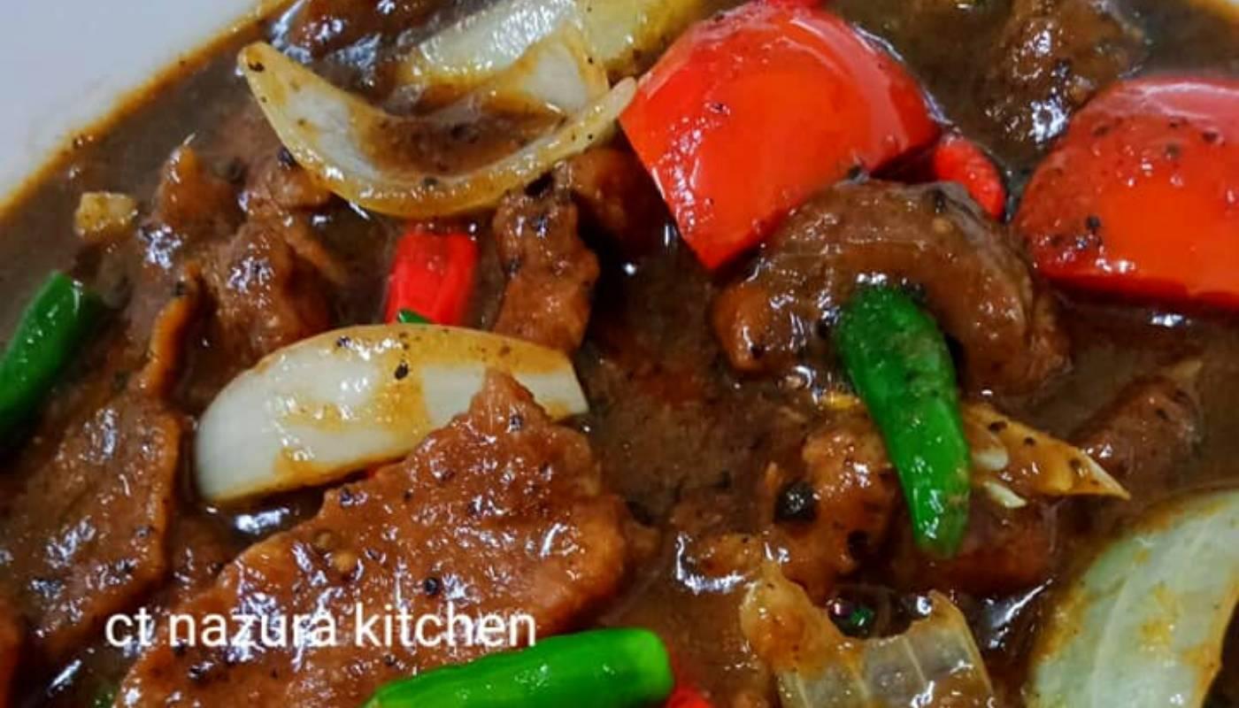 Resipi Daging Masak Black Pepper Confirm Sedap